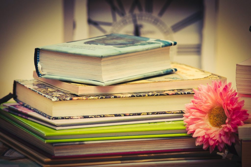 books, book stack, time